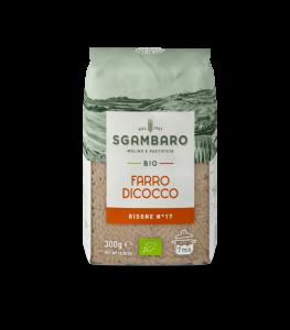SGAMBARO Pasta Bio Farro Dicocco Risone N°17 GR.300