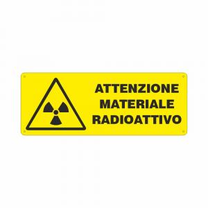 Cartello Attenzione materiale radioattivo