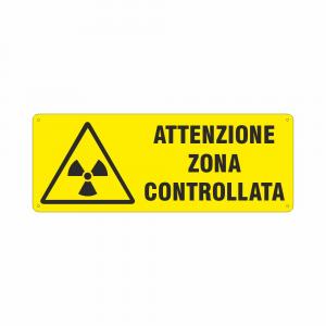 Cartello Pericolo radiazioni Attenzione zona controllata