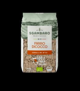 SGAMBARO Pasta Bio Farro Dicocco Corallini N°32 GR.300