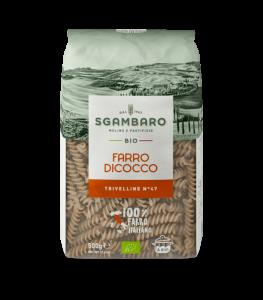 SGAMBARO Pasta Bio Farro Dicocco Trivelline N°47 GR.500