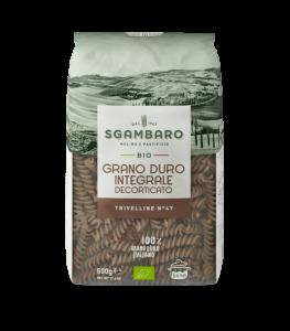 SGAMBARO Pasta Bio Integrale Trivelline N°47 GR.500