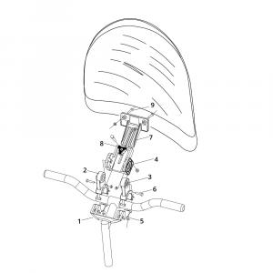 Sistema di fissaggio per parabrezza Windbreak