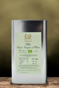 Olio Extravergine d'oliva biologico estratto a freddo 100% Ita lt 3