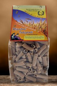 Rigatoni Integrali artigianali trafilate al bronzo 100% ita gr 500