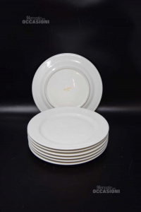 7 Piatti Da Dolce Bianchi Ceramica Ritz China 21 Cm Diametro