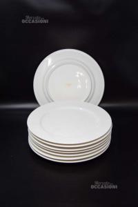 8 Piatti Piani Ceramica Ritz China 27 Cm Diametro
