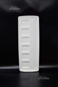 Piatto Da Aperitivo Deagourmet Foode Design Bianco Rettangolare 14 X 38 Cm