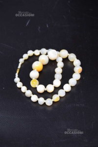 Necklace In Pearls Of Jade
