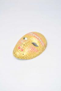 Maschera In Ceramica Dipinto 15 Cm
