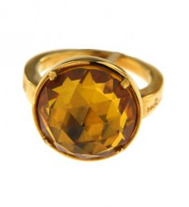 Anello Donna Molecole gioielli. Oro Molecolare, Citrino.