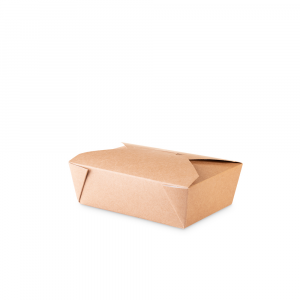 Lunch box 750 ml  in cartoncino bio - 14x10x5cm avana