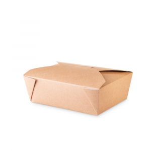 Lunch box 1600 ml  in cartoncino bio - 20x14x6,5cm avana