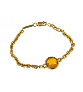 Bracciale donna Molecole gioielli. Oro Molecolare, Citrino.