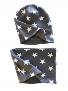 Set stelle cappello + paracollo in cotone