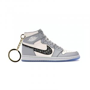 Air Jordan 1 retro high X Dior portachiavi sneaker da collezione