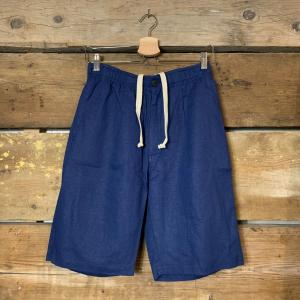Pantaloncino Bakery Lakota Shorts Porto Lucas Lino Navy