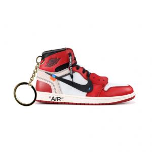 Air Jordan 1 retro high Off-White Chicago portachiavi sneaker da collezione