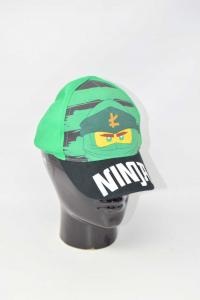 Cappellino Bambino Ninja Verde Nero Lego