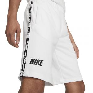 Nike Bermuda Sportivo con Banda Bianco da Uomo