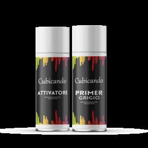 Kit  Attivatore+Primer Grigio formato bombolette