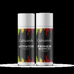 Kit  Attivatore+Primer Bianco formato bombolette