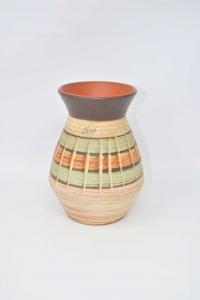 Vaso In Terracotta Tirol Fatto A Mano Altezza 17 Cm