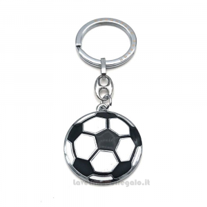 Portachiavi Pallone da Calcio in metallo 3.5x3.1 cm - Bomboniera comunione bimbo