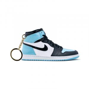 Air Jordan 1 retro high Unc Obsidian Patent portachiavi sneaker da collezione