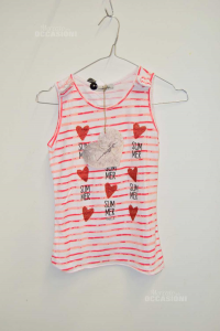 Tank Top Baby Girl Magilla 10a Lines Red Hearts