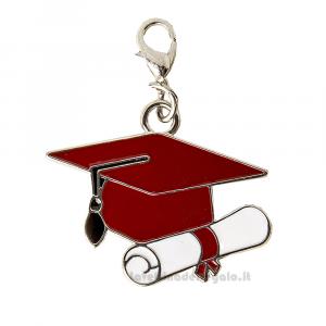 Ciondolo Tocco Rosso in metallo 3.5 cm - Decorazioni laurea