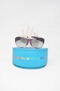 Sunglasses Chanel Woman 5112-b 887 / 11 60-15 125 Mount Purple,with Case