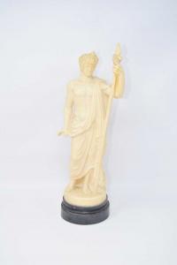 Statua Deo Greco Antioco In Pasta 37 Cm