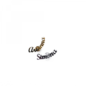 Orecchino singolo con nome in argento 925