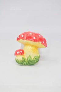 Fungo In Ceramica Da Appendere Made In Italy 11 Cm