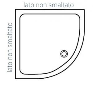 PIATTO DOCCIA ANGOLARE ALTHEA ITO                                      cm 90 x 90 H. 5.5