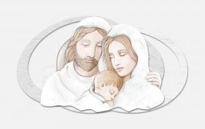 Capoletto moderno  Sacra Famiglia Estego a doppio livello 051517.3