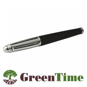 Penna nera a sfera Ecofriendly  in legno nero Green Time ZWP02C