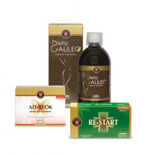 Centro Medico galileo, Quik Diet kit 3 prodotti dimagrimento (Re-start+Drenante Depurativo+Ad-Block)