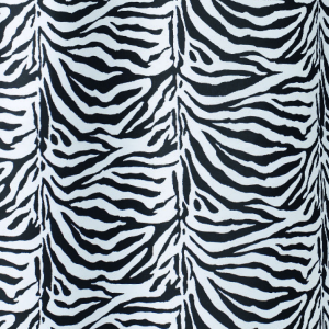 TENDA PER DOCCIA 2 LATI IN TESSUTO CM. 180 X 200 Mod. Zebra Nero       -