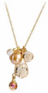 Collana donna Morellato Gold. Oro 375, pietre naturali, perla di fiume.