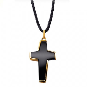 Collana pendente Unisex Morellato Gold. Croce Onice.