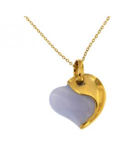 Collana Donna Morellato Gold. Cuore in Oro375 e Pietra dura.