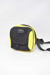 Holder Reader Cd With Door Cd Yellow Black Shoulder Strap