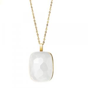 Collana Donna Morellato Gold. Stones Pendente in Oro375 e Quarzo Milk.