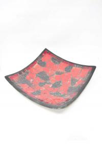 Svuotatasche Quadrato Mosaico Nero E Rosso 29 X 29 Cm