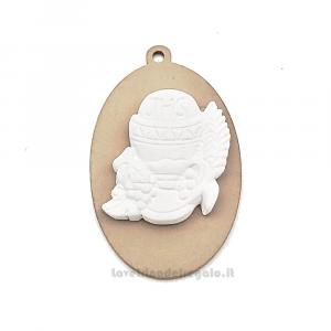 Ciondolo in legno con gessetto Calice Prima Comunione 4 cm - Decorazioni comunione