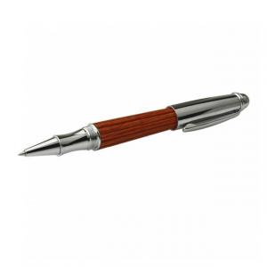 Penna nera a sfera Ecofriendly  in legno marrone Green Time ZWP02A