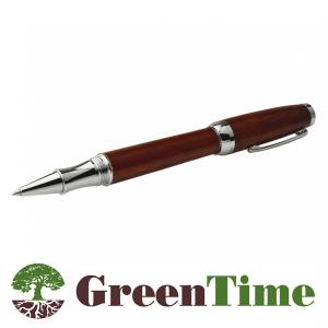Penna nera a sfera Ecofriendly  in legno marrone Green Time ZWP04D