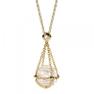 Collana Donna Morellato Gold in Oro375. Sfera Cristallo.